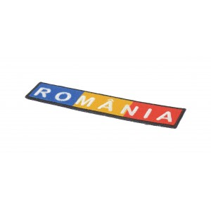 Ecuson dreptunghiular TRICOLOR+ROMANIA